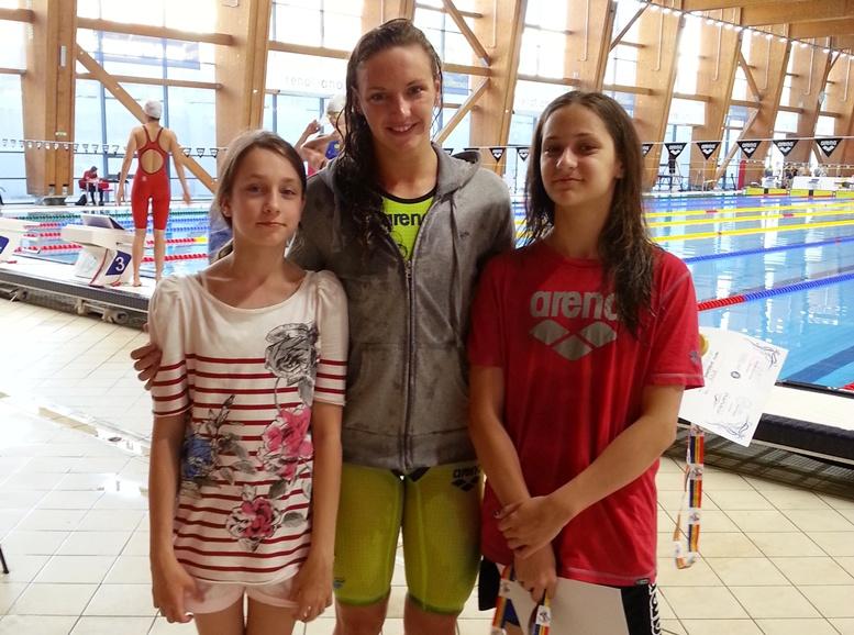 de la stanga la dreapta: Ioana Nastaca, Katinka Hossu si Diana Lissov
