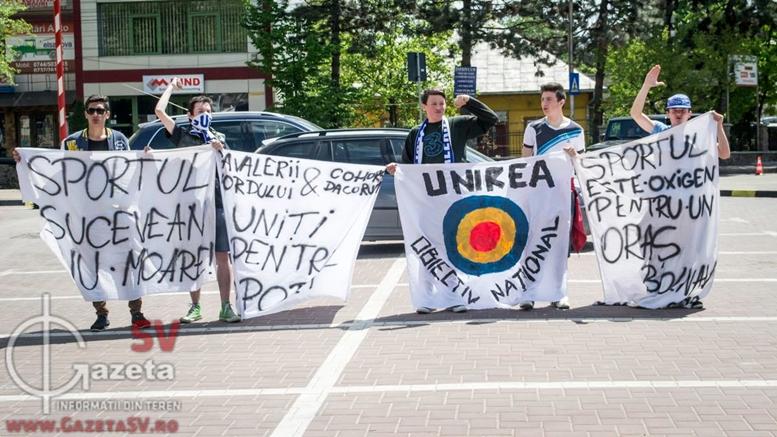 Suporterii suceveni au protest la începutul lunii mai faţă de problemele din sportul sucevean.