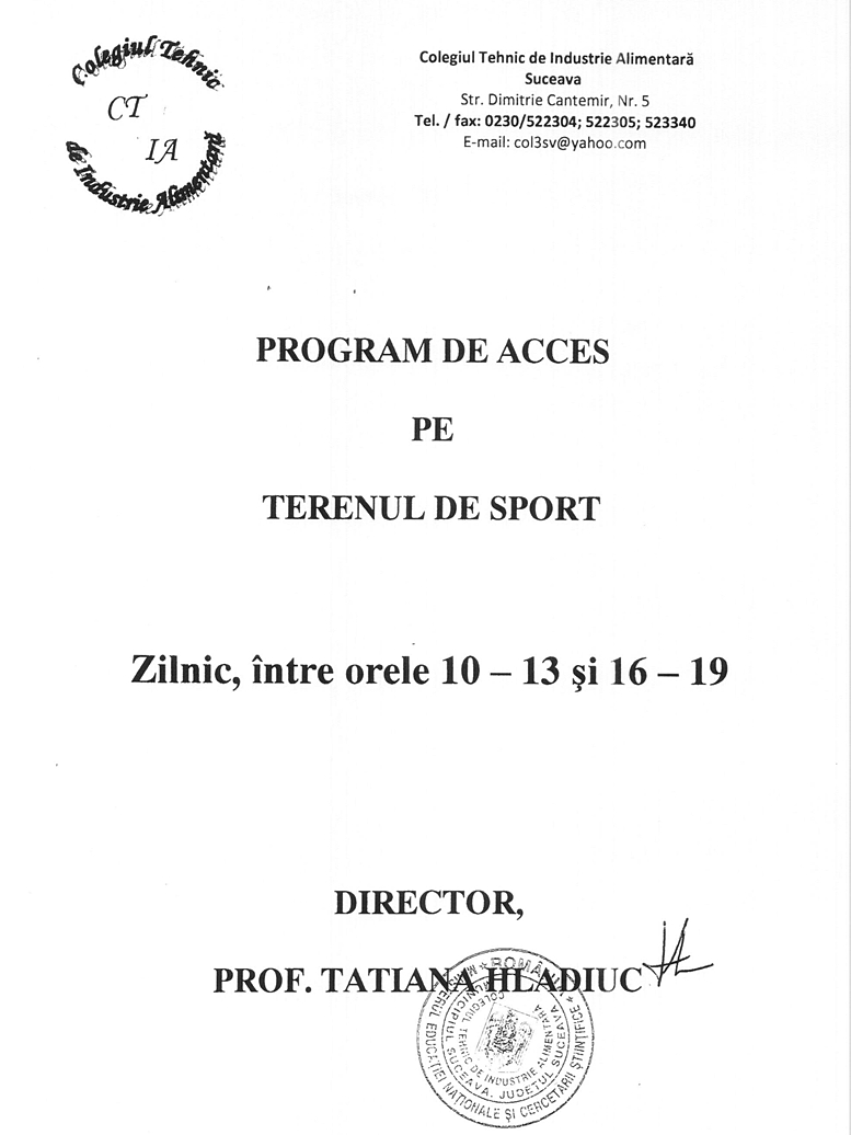program-acces-teren-sport-colegiul-tehnic-industrie-alimentara-suceava